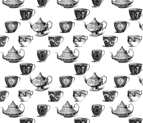 Time_for_tea_fabric fabric by victoriagolden on Spoonflower - custom fabric