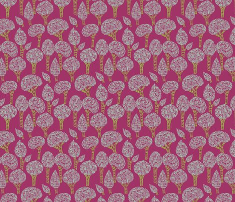 little tree forest fabric by bethan_janine on Spoonflower - custom fabric