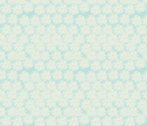 Aqua and White Flowers fabric by meg56003 on Spoonflower - custom fabric