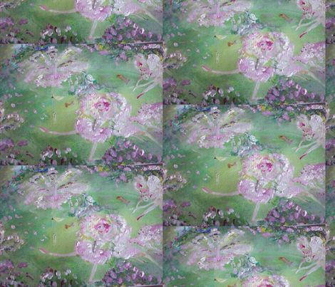 Fairy Rose Lake fabric by myartself on Spoonflower - custom fabric