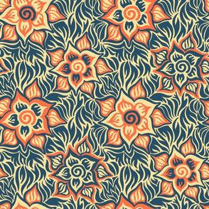 blue and orange variation