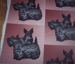 scotty terrier fabric