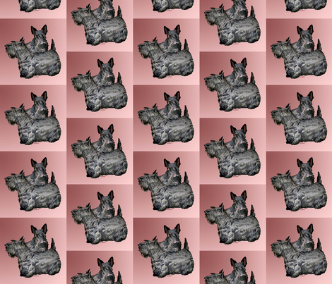 scotty terrier fabric fabric by dogdaze_ on Spoonflower - custom fabric