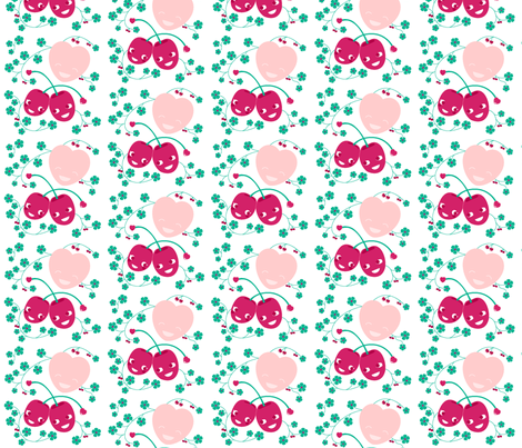 Happy cherries fabric by miss_honeybird on Spoonflower - custom fabric