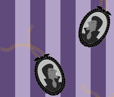 Vamp Cameo Purple Stripe fabric by lowa84 on Spoonflower - custom fabric