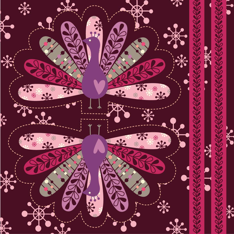 peacock ornament fabric by amel24 on Spoonflower - custom fabric
