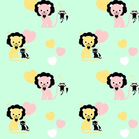 Mr. lion dad fabric by miss_honeybird on Spoonflower - custom fabric