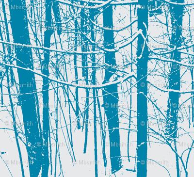 Snow Tree Stripes   Caribbean Blue