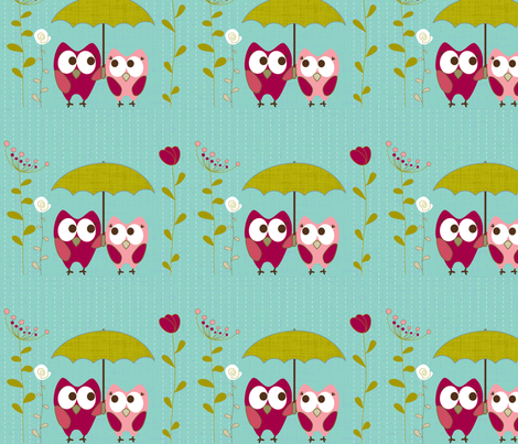 Owl Pals  fabric by lana_kole on Spoonflower - custom fabric