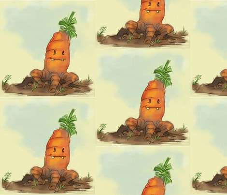 Rooty the Carrot fabric by designsbytirzah on Spoonflower - custom fabric