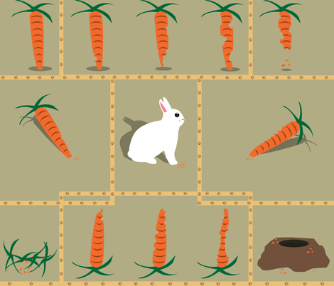 Guilty Bun-Bun fabric by forgotten_fortune on Spoonflower - custom fabric