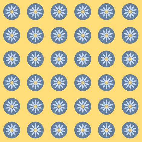 a daisy circle fabric by vo_aka_virginiao on Spoonflower - custom fabric