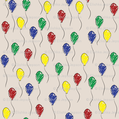 Doodle Ballons (Tan)
