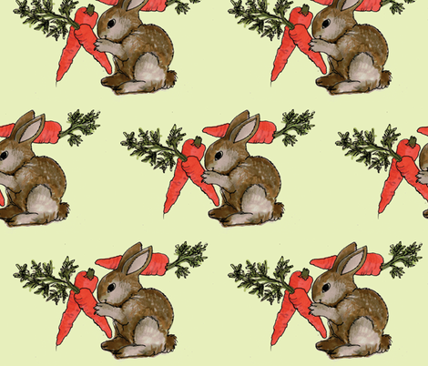 Bunny's Dream fabric by edsel2084 on Spoonflower - custom fabric