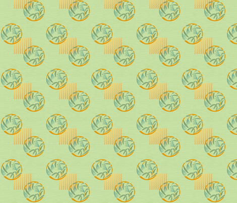 Bamboo grass on pale green fabric by su_g on Spoonflower - custom fabric