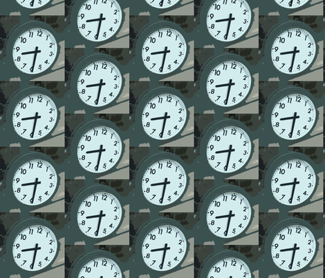 Hey Mister, Got the Time? fabric by susaninparis on Spoonflower - custom fabric