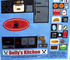 Dolly's Kitchen play quilt