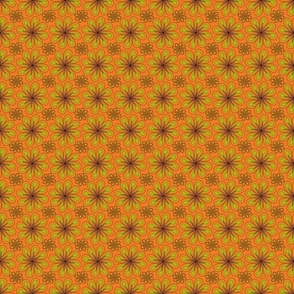 halloween_flower_print_orange green