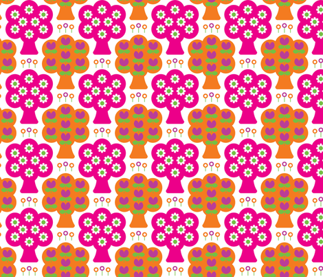 daisy_woods_pink fabric by aliceapple on Spoonflower - custom fabric