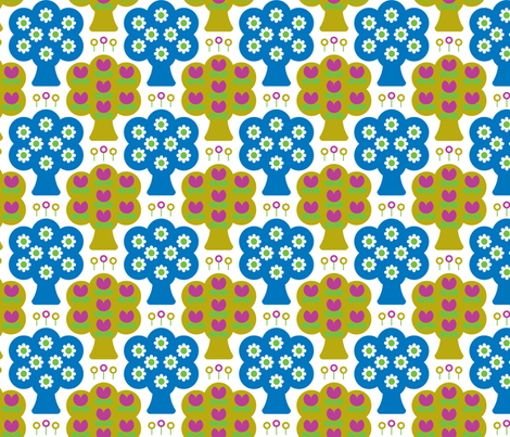 daisy_woods_blue fabric by aliceapple on Spoonflower - custom fabric