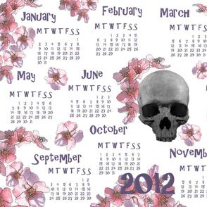orchid skull calendar 2012