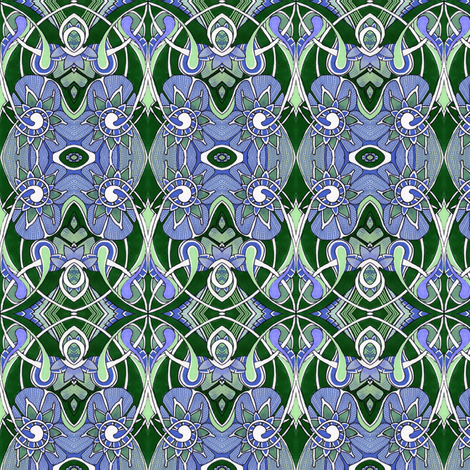 Art Nouveau and his Sister Flora fabric by edsel2084 on Spoonflower - custom fabric