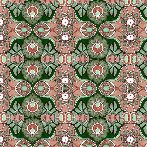 Amoebas in Heat fabric by edsel2084 on Spoonflower - custom fabric