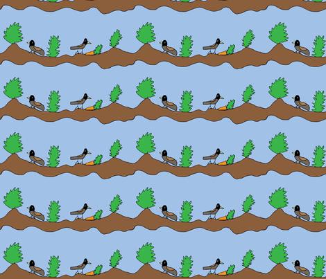 Juncos in a Carrot Patch fabric by heartfullofbirds on Spoonflower - custom fabric