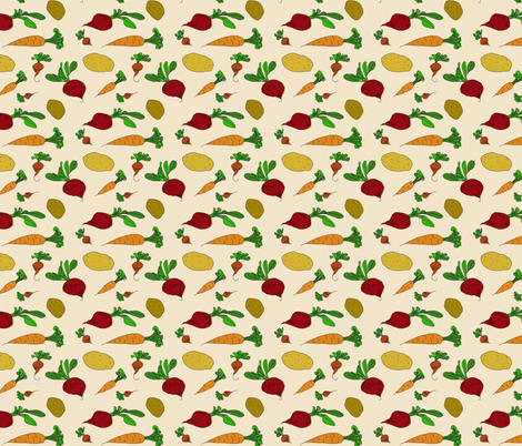 Garden Veggies fabric by toni_elaine on Spoonflower - custom fabric