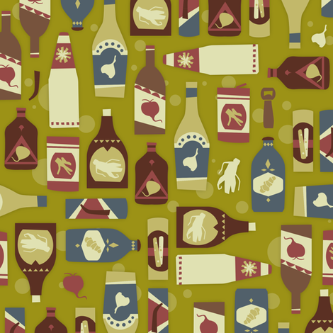 Root Beers fabric by theboerwar on Spoonflower - custom fabric