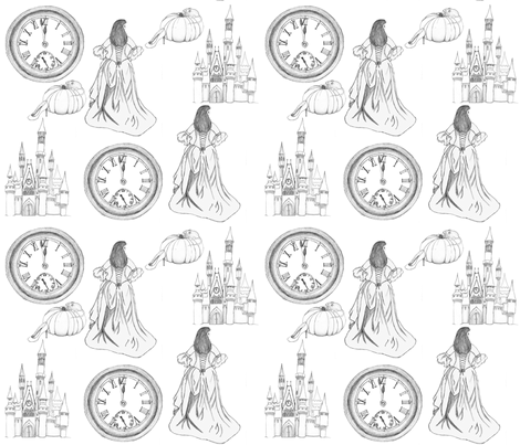 Cinderella fabric by victoriagolden on Spoonflower - custom fabric