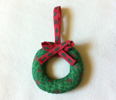 Mini Stuffed Wreath Christmas Ornament