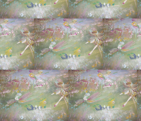 The Fairies on the hill fabric by myartself on Spoonflower - custom fabric