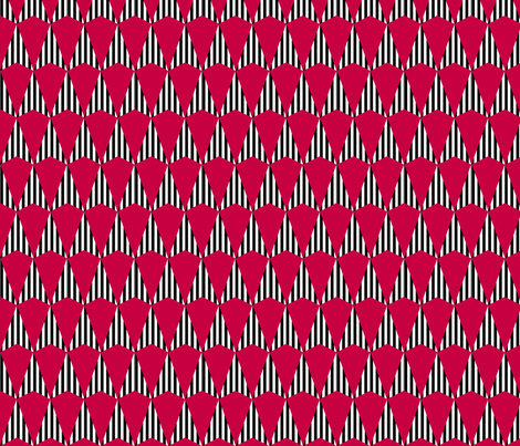 Stripes and Darts - Red fabric by siya on Spoonflower - custom fabric