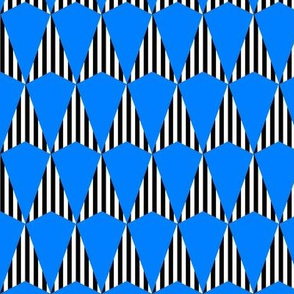 Stripes and Darts - Blue