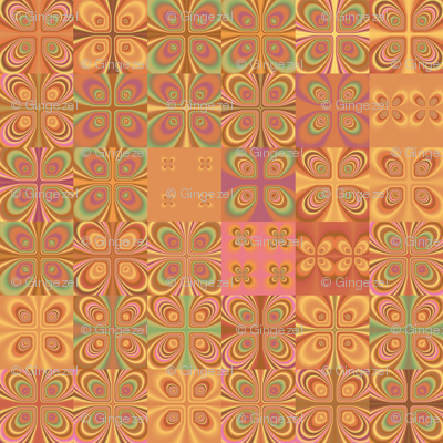 Summer Heat Abstract Squares