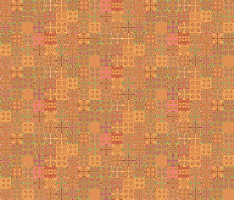 Summer Heat Abstract Squares  fabric by gingezel on Spoonflower - custom fabric