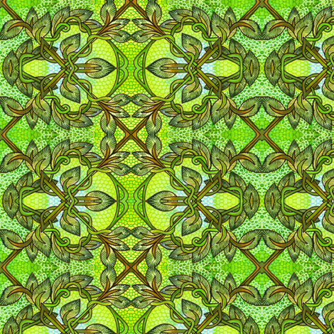 Chain Link Leaves fabric by edsel2084 on Spoonflower - custom fabric