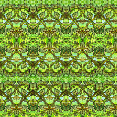 Tiny Green Vines fabric by edsel2084 on Spoonflower - custom fabric