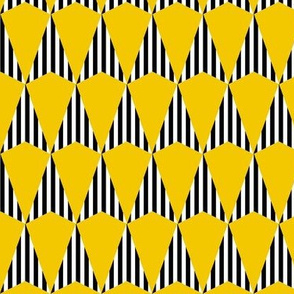 Stripes and Darts - Yellow