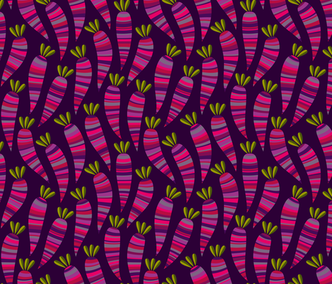 Purple Carrots fabric by fattcheese on Spoonflower - custom fabric