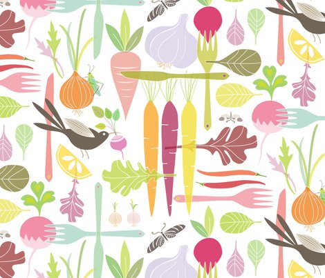 The Dinner Thief wallpaper  kayajoy  Spoonflower