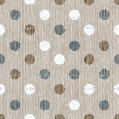 French linen polka dots