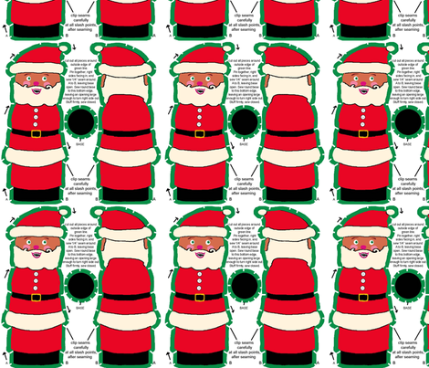 santa_DOLL fabric by lfntextiles on Spoonflower - custom fabric