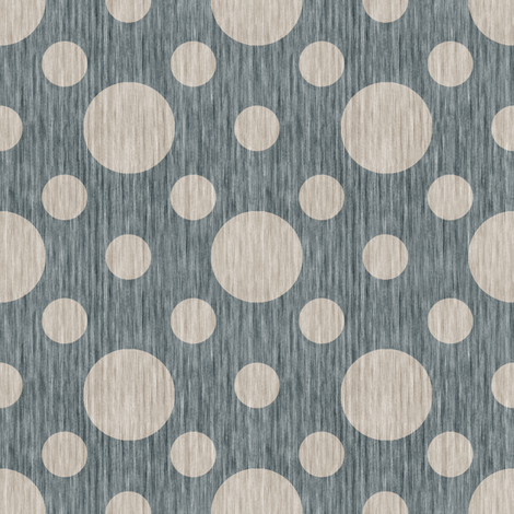 French linen bubbles - Antique Blue fabric by kristopherk on Spoonflower - custom fabric