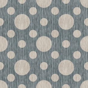 French linen bubbles - Antique Blue