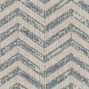 French Shabby ZigZag - Antique Blue
