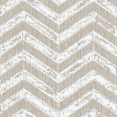 French Shabby ZigZag - Antique white