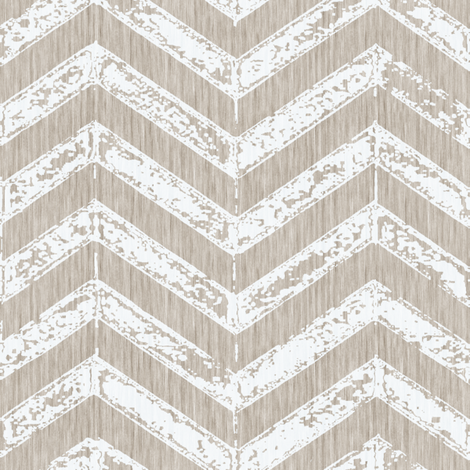 French Shabby ZigZag - Antique white fabric by kristopherk on Spoonflower - custom fabric