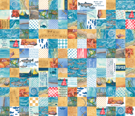 (Haitian Creole) Boys' Blanket of Blessings fabric by twobloom on Spoonflower - custom fabric